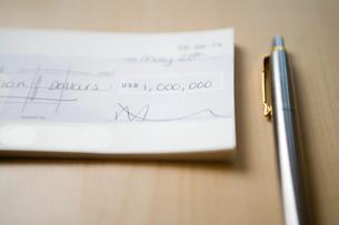 One Million Dollar Chequeの写真素材 [FYI03657883]