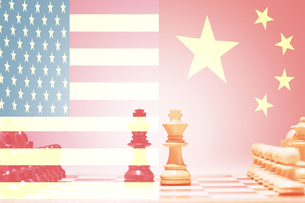 China vs USA Chess Gameの写真素材 [FYI03657893]