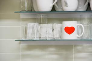 Mug and heartの写真素材 [FYI03657925]