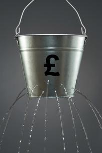 Leaky Sterling Bucketの写真素材 [FYI03657931]