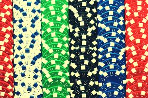 Poker Chipsの写真素材 [FYI03657976]