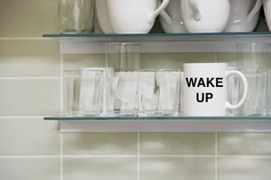 Wake uP mugの写真素材 [FYI03658020]