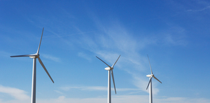 Windfarm and sunshineの写真素材 [FYI03658023]