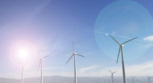 Windfarm and sunshineの写真素材 [FYI03658025]