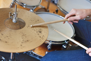 Playing Drumsの写真素材 [FYI03658048]