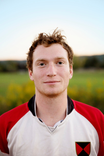 Portrait of college rugby playerの写真素材 [FYI03671603]