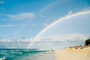 View of rainbow,の写真素材 [FYI03676664]