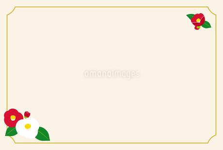 椿 カードテンプレートのイラスト素材 [FYI03680072]