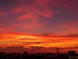 夕焼け風景の写真素材 [FYI03680841]