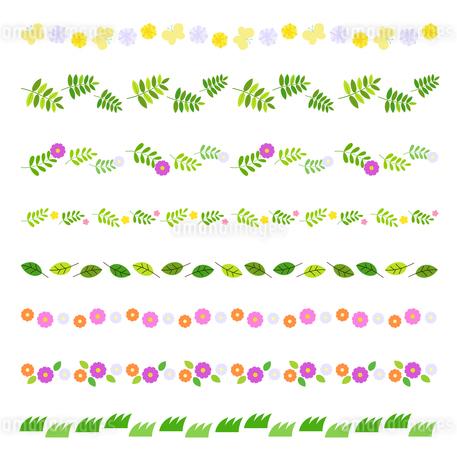 春の装飾ラインセットのイラスト素材 [FYI03682314]