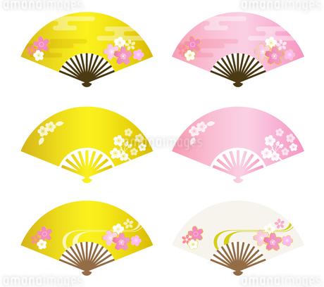 桜イメージの扇子のイラスト素材 [FYI03683161]