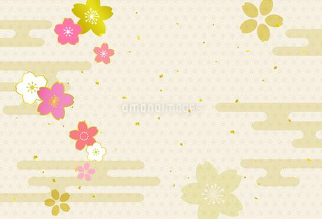 桜の和風背景素材のイラスト素材 [FYI03684793]