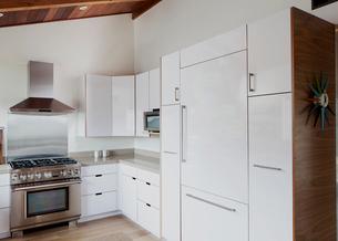 Interior of cabinet in modern kitchenの写真素材 [FYI03691089]