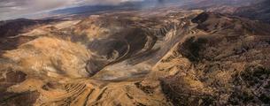 Panoramic view of Bingham Canyonの写真素材 [FYI03717437]