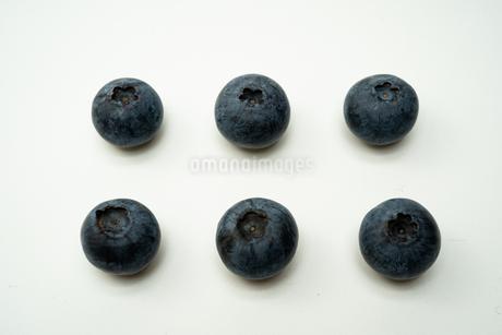 ブルーベリー6粒の写真素材 [FYI03718862]
