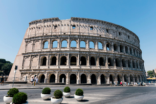 View of Colosseum against clear skyの写真素材 [FYI03719730]