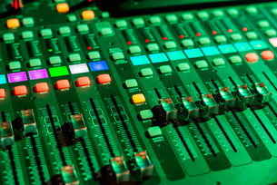 High angle view of audio equipmentの写真素材 [FYI03719911]