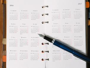 手帳と万年筆の写真素材 [FYI03722166]