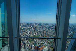 六本木ヒルズ展望台からの都市風景の写真素材 [FYI03724079]
