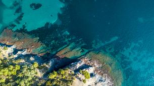 High angle idyllic view of seaの写真素材 [FYI03733029]