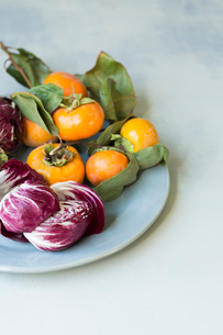 Close-up of fresh food in plate on tableの写真素材 [FYI03737560]
