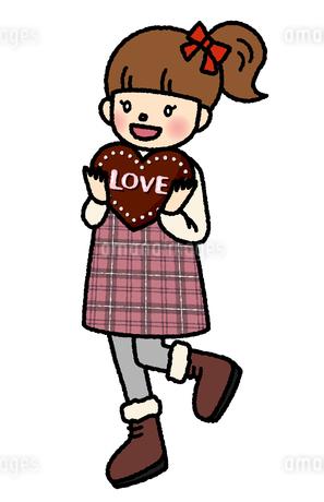 バレンタイン 女の子 チョコのイラスト素材 [FYI03739261]