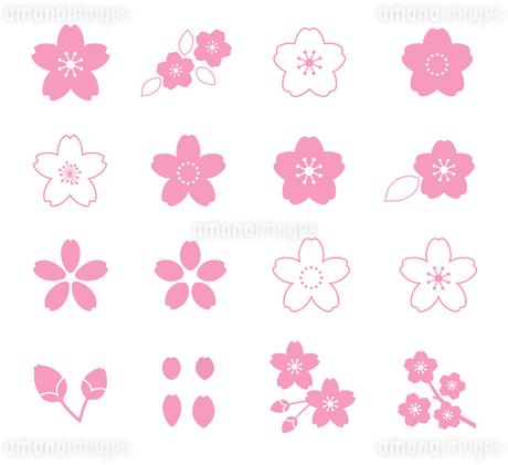 桜のイラスト アイコンセットのイラスト素材 [FYI03744044]