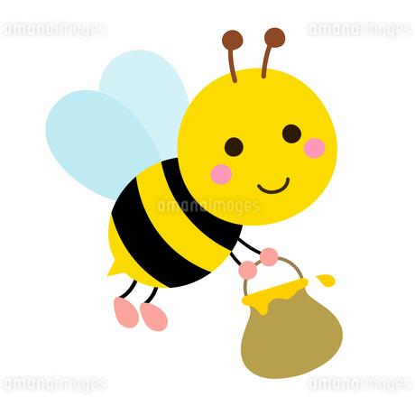はちみつを集めるミツバチのイラスト素材 [FYI03745692]