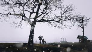 冬の屈斜路湖の写真素材 [FYI03749019]