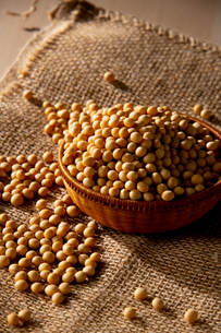 Soy bean as food backgroundの写真素材 [FYI03751927]