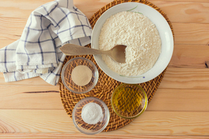 Natural and healthy ingredients prepared for cookingの写真素材 [FYI03758093]