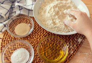 Natural and healthy ingredients prepared for cookingの写真素材 [FYI03758098]