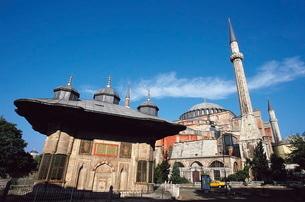 Fountain Ahmet Iii, Sultanahmet, Istanbul, Turkeyの写真素材 [FYI03759684]