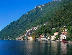 Lake Lugano, Lombardyの写真素材 [FYI03759785]
