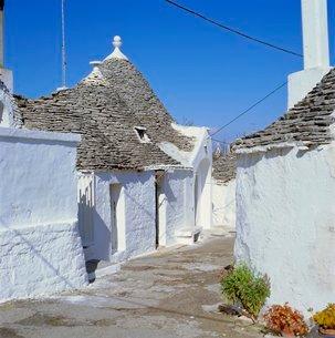 Alberobello, typical Trulli houses, Puglia (Apulia)の写真素材 [FYI03759886]