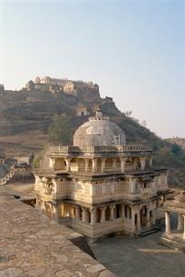Massive fort built in 1458 AD by Rana Kumbha, Kumbhalgarh, Rajasthan stateの写真素材 [FYI03759975]