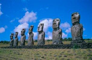 Ahu Akiui, Easter Islandの写真素材 [FYI03760064]