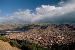 View over the city, Cuzco (Cusco), Peruの写真素材 [FYI03760271]