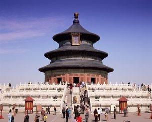 The Hall of Prayer for Good Harvests, Temple of Heaven, Tiantan Gongyuan, Beijingの写真素材 [FYI03760285]