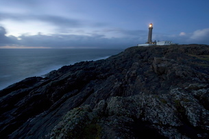 Ardnamurchan Lighthouse, at the westernmost point of the British mainland, west coast, Scotlandの写真素材 [FYI03760374]