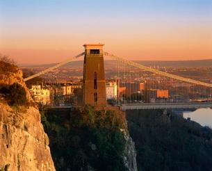 Clifton suspension bridge, Avon, Bristolの写真素材 [FYI03760518]