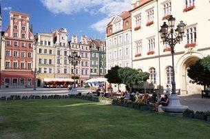 The Rynek (Town Square), Wroclaw, Silesia, Polandの写真素材 [FYI03760586]