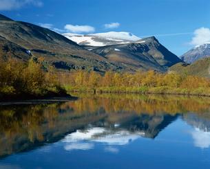 Typical scenery in Laponia, Lappland, Sweden, Scandinaviaの写真素材 [FYI03760635]