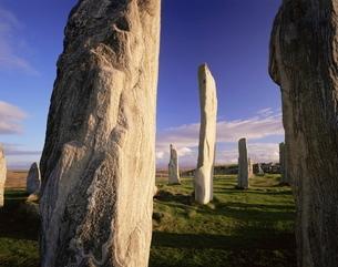 Standing stones of Callanish, Isle of Lewis, Outer Hebrides, Scotlandの写真素材 [FYI03761252]