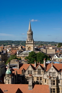 Cityscape from University Church, Oxford, Oxfordshireの写真素材 [FYI03761640]