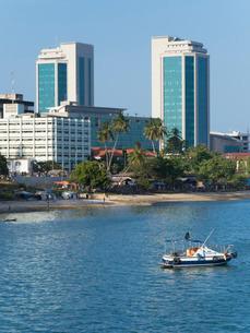 Harbour waterfront, Dar es Salaam, Tanzaniaの写真素材 [FYI03761731]