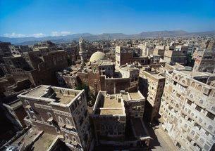 Sanaa, Yemen, Middle eastの写真素材 [FYI03761987]
