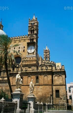Norman Cathedral, Palermo, Sicilyの写真素材 [FYI03762170]