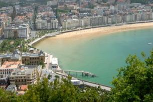Overview of San Sebastian, Basque country, Costa Vasca, Euskadiの写真素材 [FYI03762241]