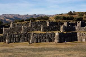Sacsayhuaman, the former capital of the Inca empire, Cuzco, Peruの写真素材 [FYI03762292]